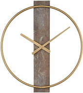 Sterling 351-10544 Tournai Modern Gold With Grey Wood Wall Clock