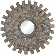 Sterling 351-10552 Gulla Gulla Salvaged Grey Oak Wall Mirror