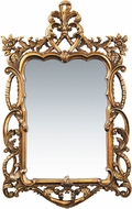 Sterling 40-1704M Floral Scroll Gold Leaf Wall Mounted Mirror