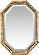 Sterling 40-2376M Inlay Octagon Gold Leaf & Black Mirror