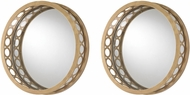 Sterling 51-011-S2 Gold Wall Mounted Mirror - Set of 2
