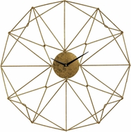 Sterling 51-029 Contemporary Gold Angular Wirework Wall Clock