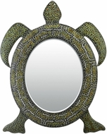 Sterling 51-8076M Tortoise Green & Black & Heavy Patina Wall Mounted Mirror