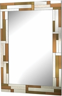 Sterling 5173-026 Copper Geometric Contemporary Copper & Clear & Smoked Wall Mirror