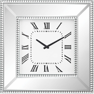 Sterling 5173-038 Falconbrook Clear Mirror / Crystals Wall Clock