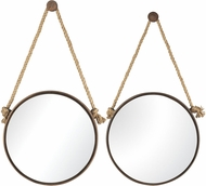 Sterling 53-8502 Mirrors on Rope Rust Wall Mounted Mirror - Set of 2