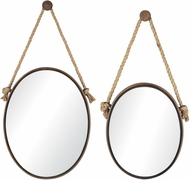Sterling 53-8503 Mirrors on Rope Rust Mirror - Set of 2