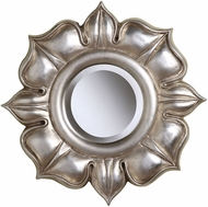 Sterling 6050468 Lotus Bright Silver Leaf Wall Mirror