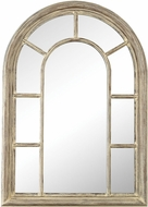 Sterling 6100-030 Windward Cream Washed Woodtone Wall Mounted Mirror