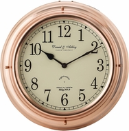 Sterling 8984-015 Shiny Copper Nautical Clock