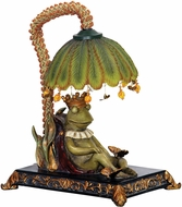 Sterling 91-740 Sleeping King Frog Contemporary Filey Green Table Top Lamp