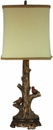 Sterling 93-19310 Mountain Blvd Country Wood Undertone With Heavy Brown Antique Table Top Lamp