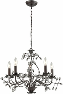 Sterling D3399 Oberon Oil Rubbed Bronze, Clear Mini Chandelier Lighting