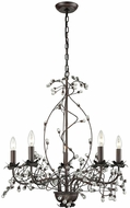 Sterling D3400 Oberon Oil Rubbed Bronze, Clear Lighting Chandelier