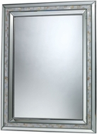 Sterling DM1948 Sardis Brushed Steel & Mother of Pearl Shell Wall Mounted Mirror