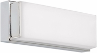 Tech 700BCSAGW13C Sage Contemporary Chrome LED Wall Sconce Lighting