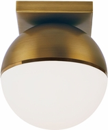 Tech 700FMAKVRR-LED927 Akova Modern Aged Brass/Bright Brass LED Ceiling Light