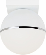 Tech 700FMAKVWC-LED927 Akova Contemporary Matte White/Chrome LED Ceiling Light Fixture