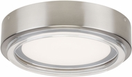 Tech 700FMESC12S Escher Modern Satin Nickel LED Ceiling Lighting Fixture