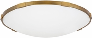 Tech 700FMLNC24A Lance Modern Aged Brass LED 24  Flush Mount Ceiling Light Fixture