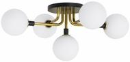 Tech 700FMVGOOR-LED930 Viaggio Modern Opal / Brass LED Ceiling Light Fixture