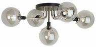 Tech 700FMVGOSN-LED927 Viaggio Contemporary Smoke / Polished Nickel LED Ceiling Lighting Fixture