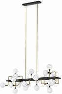 Tech 700LSVGOOR-LED930 Viaggio Modern Opal / Brass LED Kitchen Island Lighting