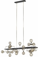 Tech 700LSVGOSN-LED927 Viaggio Contemporary Smoke / Polished Nickel LED Kitchen Island Light