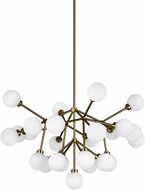 Tech 700MRAWR-LED927 Mara Contemporary Aged Brass LED Chandelier Light