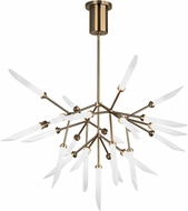 Tech 700SPRFR-LED927 Spur Contemporary Aged Brass LED Hanging Chandelier