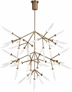 Tech 700SPRGFR-LED927 Spur Grande Contemporary Aged Brass LED Chandelier Lighting
