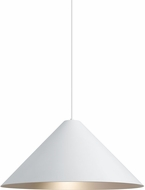Tech 700TDKONPWS Konos Contemporary White/Satin Haze Line Voltage Hanging Light Fixture