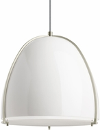 Tech 700TDPRVPWW Paravo Modern Gloss White/Satin Nickel Line Voltage Pendant Lighting