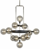 Tech 700VGOSN-LED927 Viaggio Contemporary Smoke / Polished Nickel LED Chandelier Light