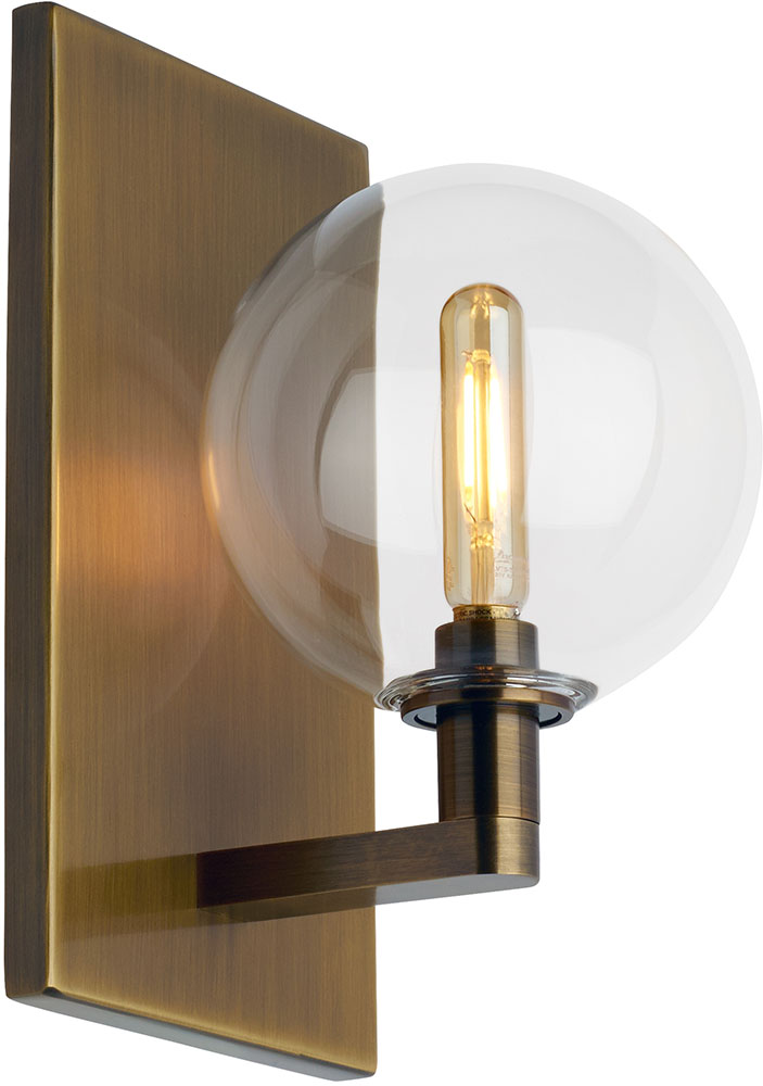 Wall Mounted Tilley Lamp : Tech 700WSGMBSCR Gambit Modern Aged Brass LED Wall Mounted Lamp - TCH-700WSGMBSCR