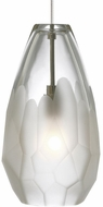 Tech BRIOLETTE-PENDANT-FROST Briolette Contemporary Low Voltage Mini Hanging Light Fixture