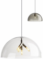 Tech DUOMO-PENDANT-CLEAR Duomo Contemporary LED Line Voltage Hanging Light Fixture