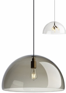Tech DUOMO-PENDANT-TRANSPARENT-SMOKE Duomo Modern LED Line Voltage Drop Lighting