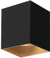 Tech Exo Contemporary Gold Haze LED Flush Mount Lighting