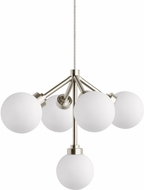 Tech Mara Modern Satin Nickel LED Low Voltage Mini Chandelier Light