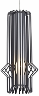 Tech MINI-SYRMA-PENDANT-MATTE-BLACK Mini Syrma Contemporary Satin Nickel Low Voltage Mini Pendant Light Fixture