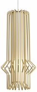 Tech MINI-SYRMA-PENDANT-SATIN-GOLD Mini Syrma Contemporary Satin Nickel Low Voltage Mini Hanging Pendant Lighting