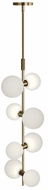 Tech MODERNRAIL-PENDANT-GLASS-ORBS ModernRail Modern Aged Brass LED Drop Lighting