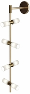 Tech MODERNRAIL-WALL-GLASS-CYLINDERS ModernRail Contemporary Aged Brass LED Wall Lighting Fixture