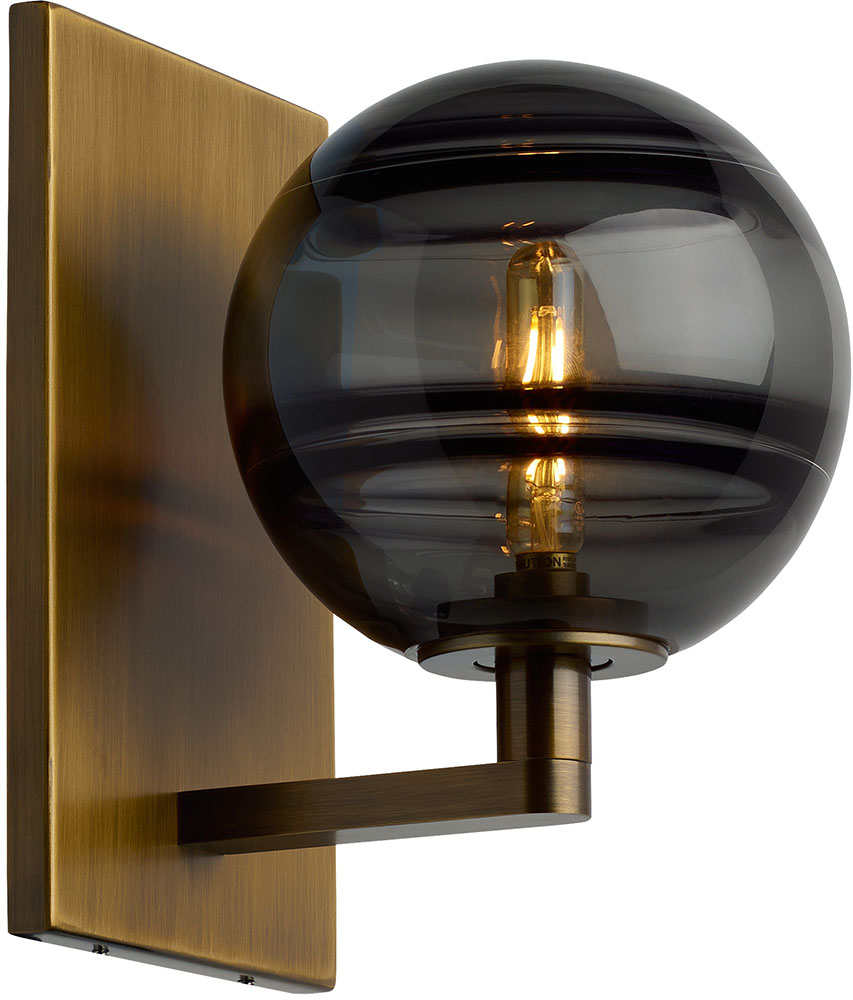 Tech Sedona Contemporary Aged Brass LED Wall Lighting ... on Aged Brass Wall Sconce id=86460