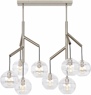 Tech Sedona Modern Satin Nickel LED Kitchen Island Lighting
