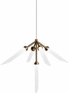 Tech Spur Contemporary Aged Brass LED Low Voltage Mini Chandelier Lighting