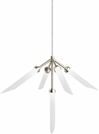Tech Spur Modern Satin Nickel LED Low Voltage Mini Lighting Chandelier