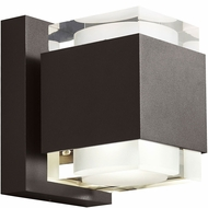 Tech Voto Modern Bronze LED Exterior Large Wall Sconce Light