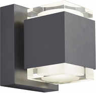 Tech Voto Modern Charcoal LED Exterior Small Wall Lighting Fixture